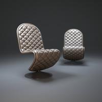 verner-panton chair-lounge 3d max