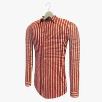 3dsmax stripe red shirt hanger