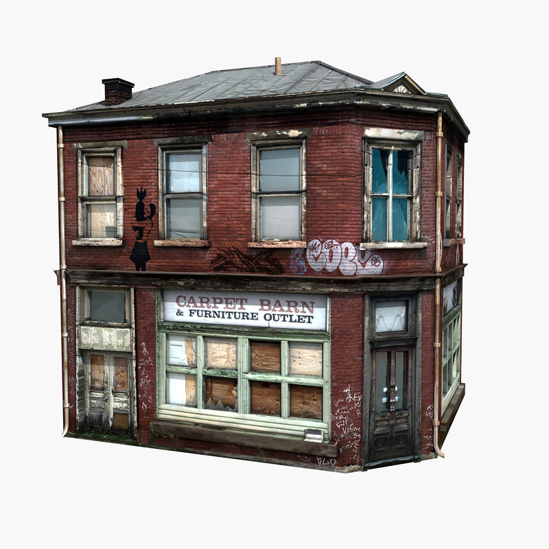 3d Model House Building Residential: Free Realistic Old Building 3d Model