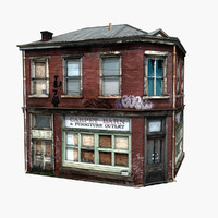realistic old building 3ds