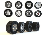 3d model wheels set