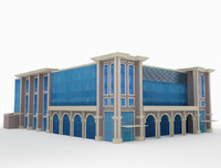 3d arch industrial building model