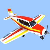 maya cartoon trainer aircraft