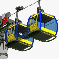 Cartoon Aerial Tramway
