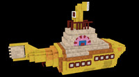 Minecraft Yellow Submarine Model