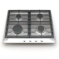 3d model miele 4-burner km