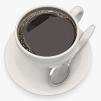 black coffee 3d model