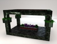 3d 3ds gazebo bench