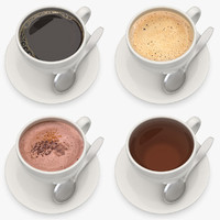 3ds max hot beverage