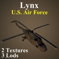 3d agustawestland lynx usa helicopter model