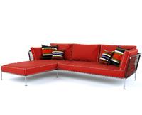 nest sofa - 3d model