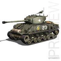 M4A3E8 Sherman - Easy Eight - A Paper Doll