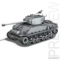 3d m4a3e8 sherman - easy model