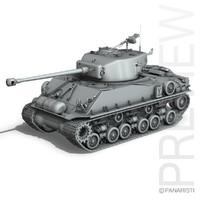 3d m4a3e8 sherman - easy model