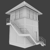 optimized railroad tower 3d obj