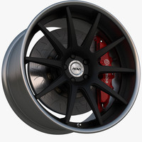 wheel 0 deep concave 3d model