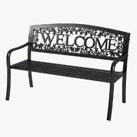 3d welcome bench
