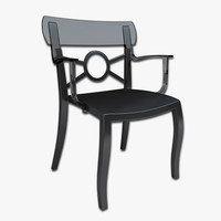 3d cafe chair model