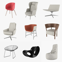 3d chairs arper lounge model