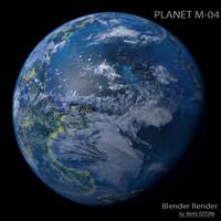 3d model planet m-04 m