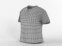 3d model t-shirt base male