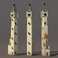3d lighthouse modelled