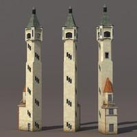 lighthouse modelled 3d model