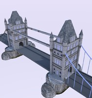 tower bridge 3d obj