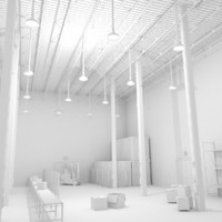 3d obj scene warehouse