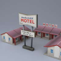 3d model highway motel