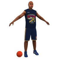 3d model of basketball player ball games
