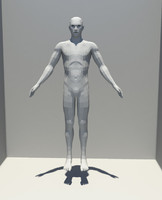 maya male character base mesh