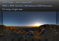 MOUNTAIN TOP  AT SUNSET 360 HDR PANORAMA #268