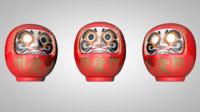3d model daruma dolls