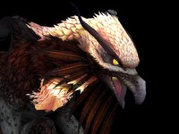 3d gryphon animal rigged model