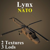 3d model of agustawestland lynx nat helicopter