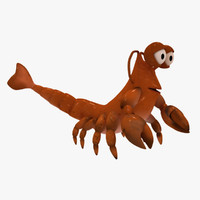 animation lobsters 3d model