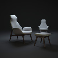 poliform-ventura-lounge-armchair 3d max
