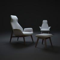 poliform-ventura-lounge-armchair 3d max