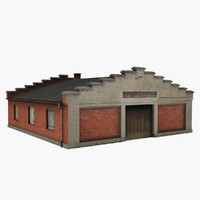 old car repair workshop 3d 3ds