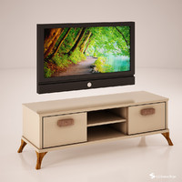 tv unit 3d obj