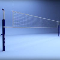 Volleyball net low poly