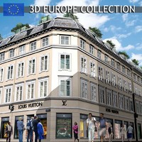realistic european louis vuitton 3d 3ds