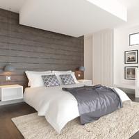 3d model modern interior room