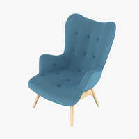 3d model grant featherston contour chair