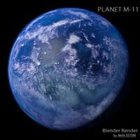 planet m-11 m 3d model
