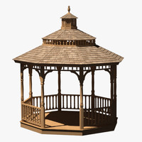 gazebo modeled accurate 3d max