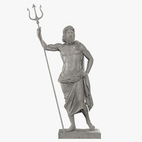 3d model poseidon sculpture