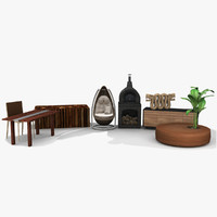 3d model furniture natural