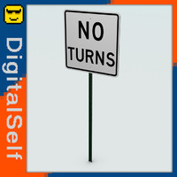 3d turns sign